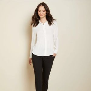 RW&Co White Button Shirt with pockets